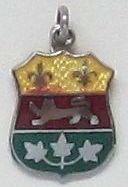 Great Vintage Sterling Silver Guilloche Souvenir Charm