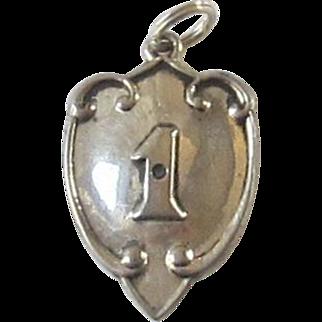 Sterling Silver Shield Pendant