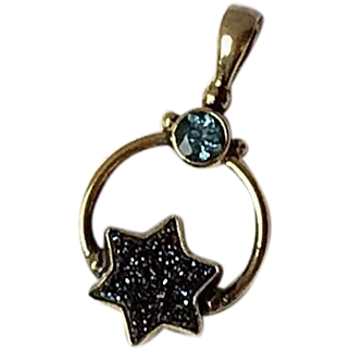 Sterling Silver, Vermeil Crystal and Druzy Pendant
