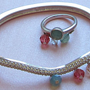 Darling Vintage Swarovski Bracelet and Ring Set