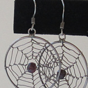 Fun Vintage Cobweb Pierced Earrings