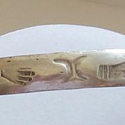 Sterling Silver Vintage Round Bangle Bracelet