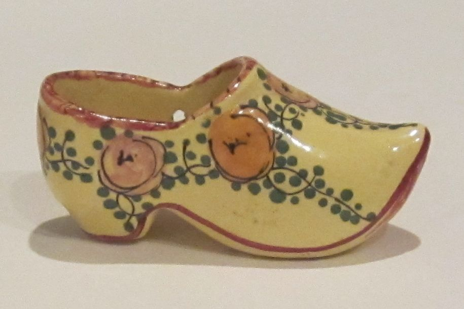 Miniature Vintage Porcelain Dutch Shoe-France