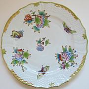 Exquisite Vintage Herend Porcelain Dinner Plate-Queen Victoria