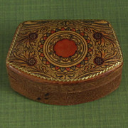 Handcrafted Vintage Hinged Leather Box