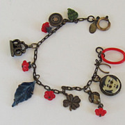 Fun Vintage Bracelet with Glass and Metal Charms