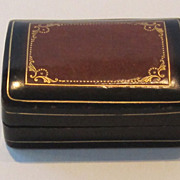 Handsome Vintage Two Tone Leather Box