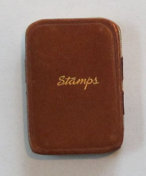 Miniature Vintage Leather Stamp Case