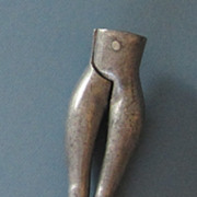 Vintage Cast Aluminum Female Shaped Nut Cracker
