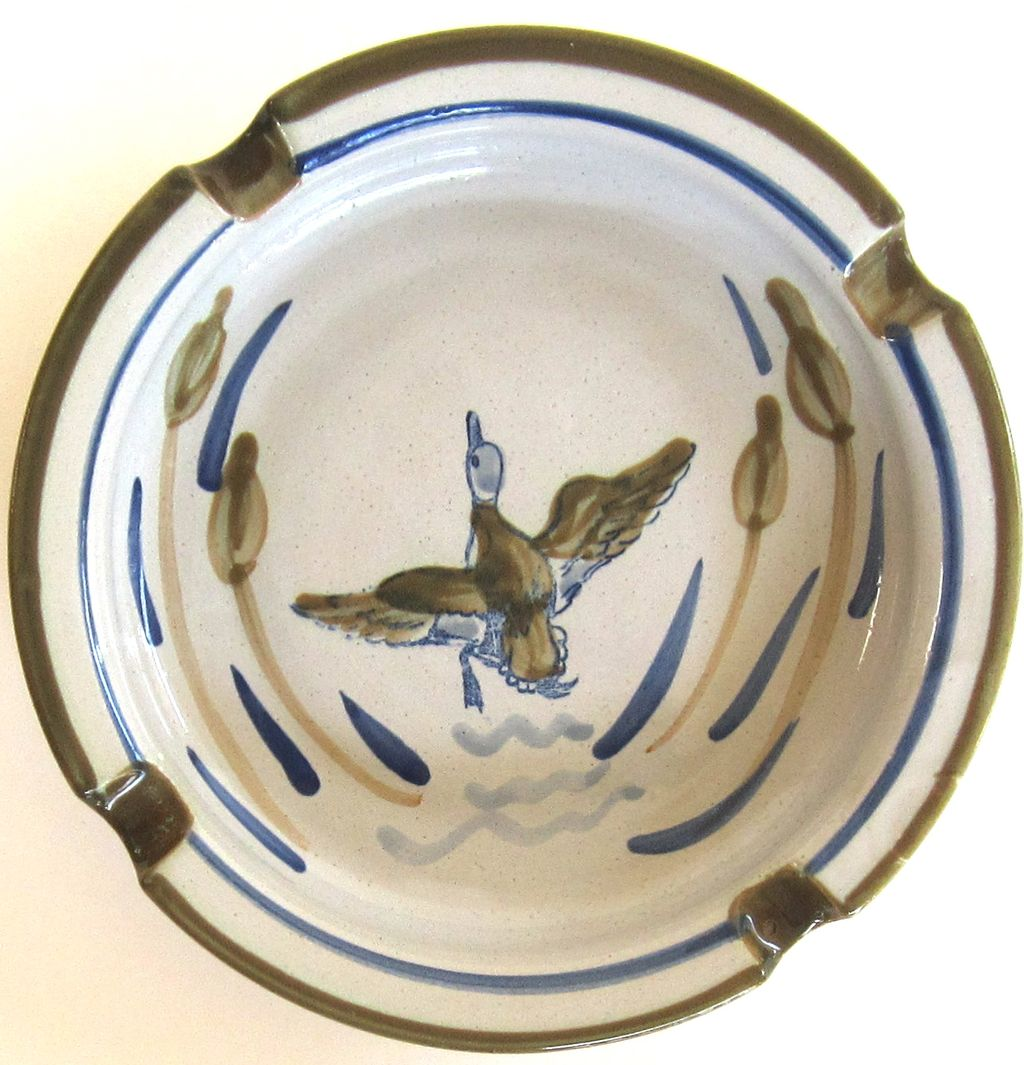 Vintage Duck Louisville Pottery Ashtray From Shopveronica