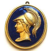Vintage Trojan Soldier Medallion