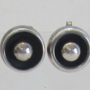 Vintage Sterling Silver Mexico Earrings