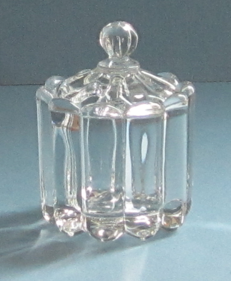 Heisey Crystolite Glass Condiment Jar and Lid