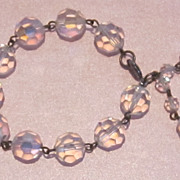 Sparkling Vintage 12mm Crystal Glass Bracelet