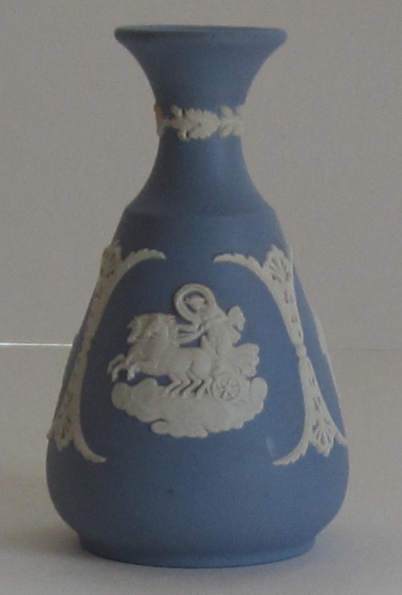 Vintage Wedgwood Jasperware Blue Bud Vase From Shopveronica On Ruby Lane