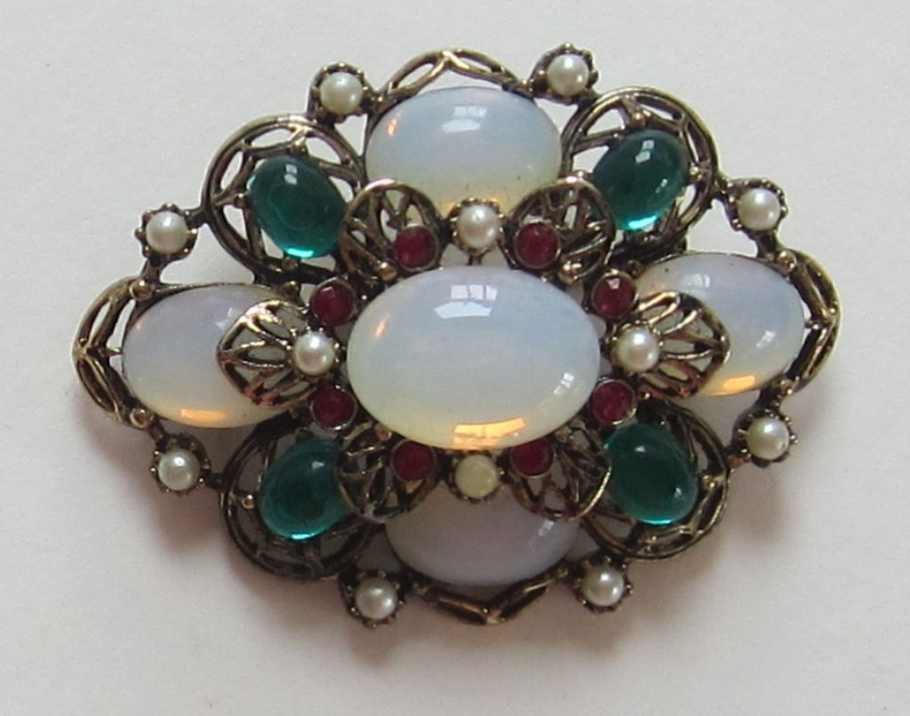 Gorgeous Vintage Quot Emmons Quot Moonstone Brooch Veronica