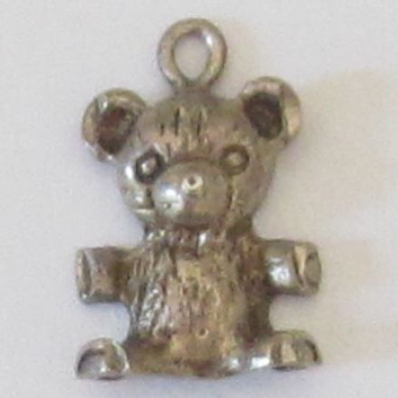 Vintage Sterling Silver Bear Charm