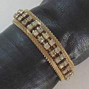 Vintage Rhinestone Mesh Bracelet