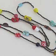 Vintage Italian Glass Bead Necklace