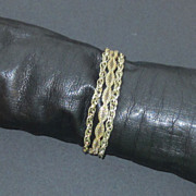 Three Strands Gold Tone Mesh Chain Bracelet