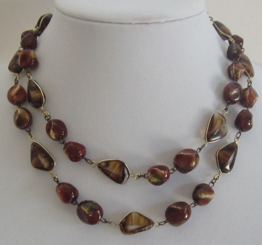 Beautiful Vintage Double  Strand Bead Necklace