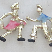 Vintage Bowling Couple Pins/Brooches