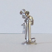 Vintage Candlestick Telephone Sterling Silver Charm