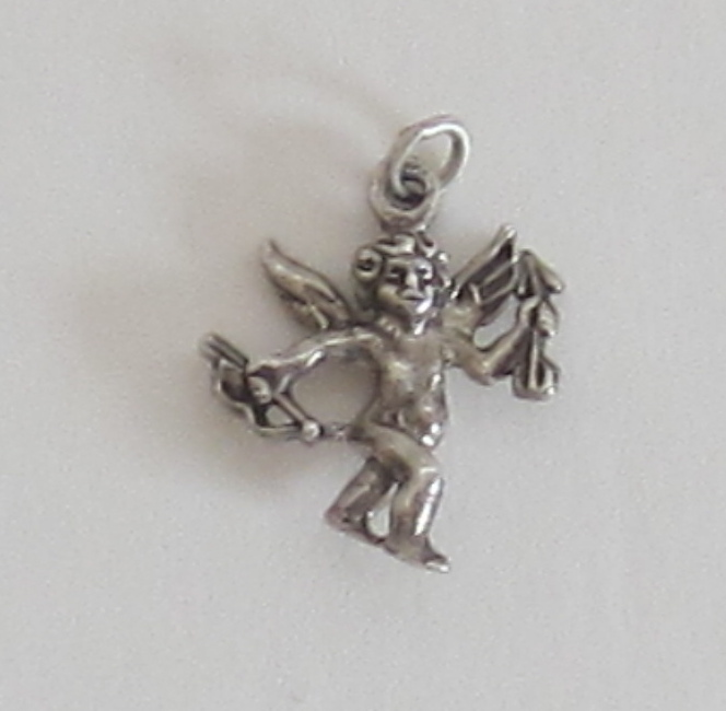 Vintage Sterling Silver Cupid Charm