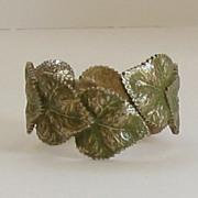 """Vintage Designer Hobe' Bangle """"Leaf"""" Bracelet"""
