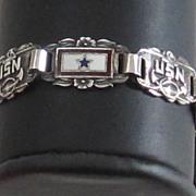 Charming Vintage Sterling Silver Forget-Me-Not Bracelet