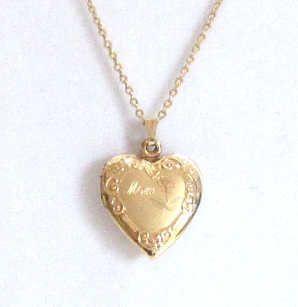 charming 14k gf heart locket necklace from shopveronica on. Black Bedroom Furniture Sets. Home Design Ideas