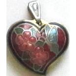 Lovely Cloisonne' Heart Pendant/Charm