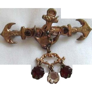 Victorian Gold Anchor Brooch