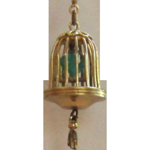 Vintage Birdcage Charm/ Pendant