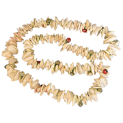Vintage Clam Shell and Bead Necklace