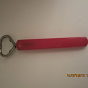 Red Bakelite Bottle Opener Vintage Barware