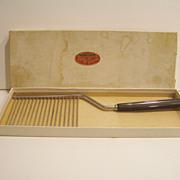 Black Bakelite Schneider Cake Breaker in Original Box