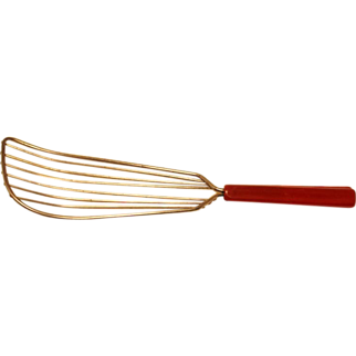 Red Bakelite Whip Whisk Vintage Kitchen Utensil