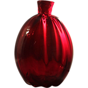 Pairpoint Glass Ruby Red Flask