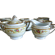Noritake China Allure Sugar Bowl and Creamer C 1933