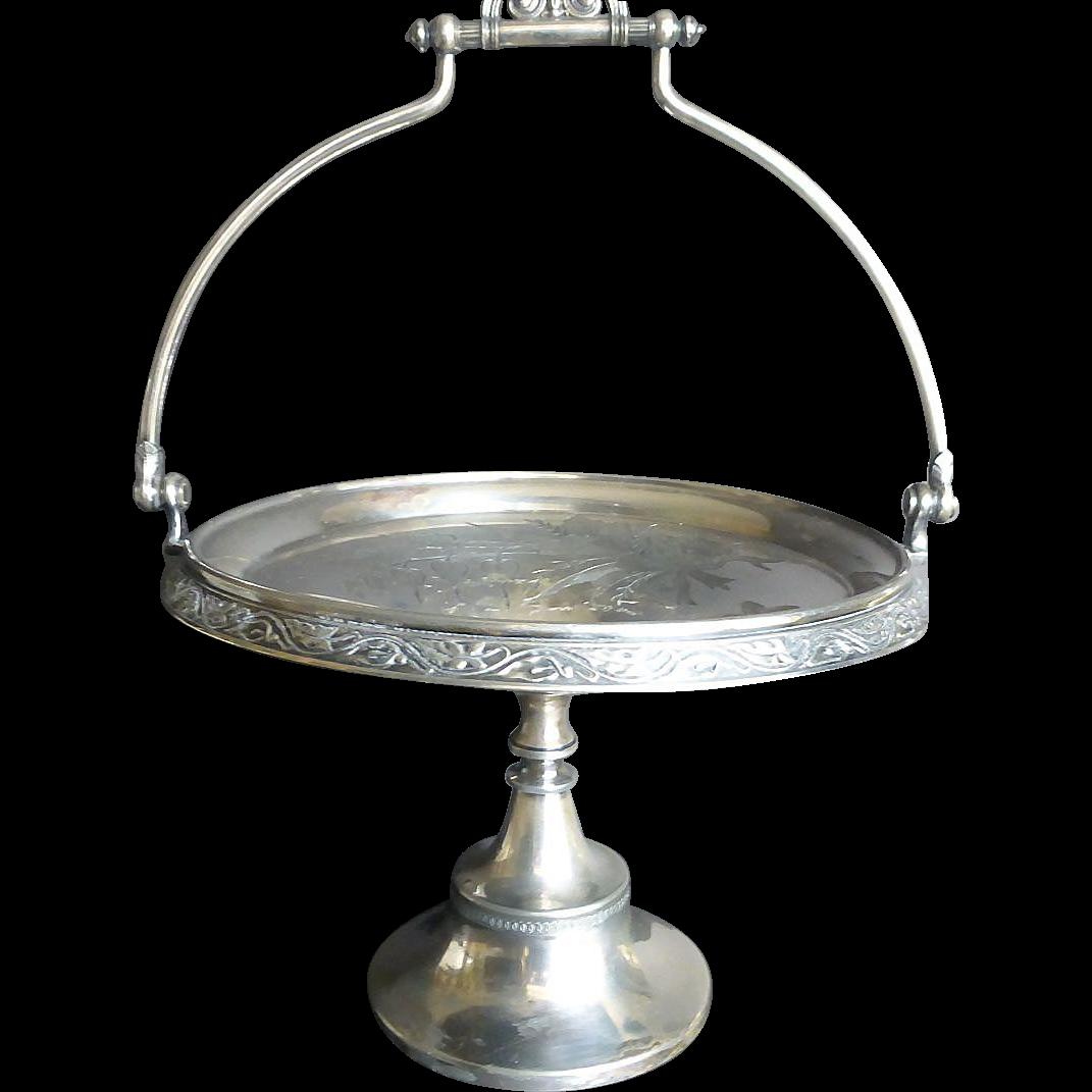 Vintage Silver plate Reed & Barton Bride Basket c 1890s