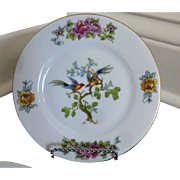 Victoria China Birds Luncheon Plates set of 3