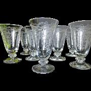Fostoria Romance Juice Glass set of 8 c 1942