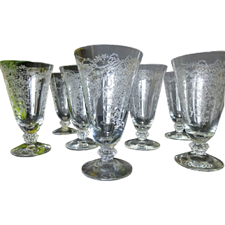 Fostoria Romance Juice Glass set of 8 c 1942