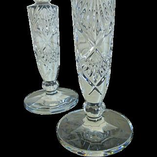 Vintage Crystal Candlestick set