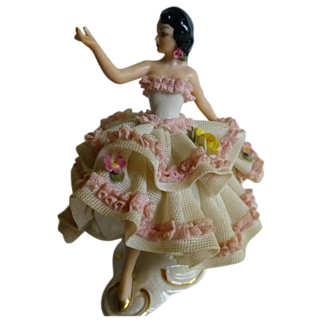 Dresden Lace Spanish Dancer Figurine