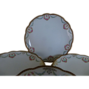 MZ Austrian hand painted set of 6 desert plates c 1900