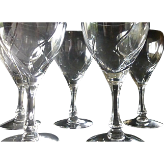 Fostoria Chapel Bells Goblet set of 8
