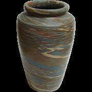 """Niloak Pottery 12.5"""" Missionware Swirl Large Vase"""