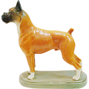 Very Scarce Rookwood Pottery 1945 Boxer Dog Figure